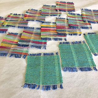 オリジナル(Original)の日本製機織り コースター14枚 セット(キッチン小物)