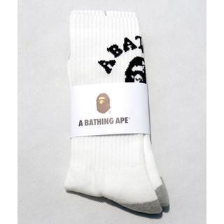 アベイシングエイプ(A BATHING APE)のA BATHING APE メンズ用靴下ソックスホワイト(ソックス)
