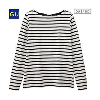 ジーユー(GU)のボーダーボートネックT(Tシャツ(長袖/七分))