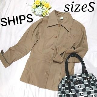 シップス(SHIPS)のSHIPS ミリタリージャケット ベージュ スタイリッシュ  Sサイズ(ミリタリージャケット)