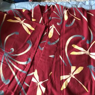浴衣 赤紫 小さめ トンボ(浴衣)