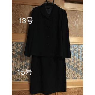 ソワール(SOIR)のレディースブラックフォーマル 喪服 礼服 黒 大きいサイズ(礼服/喪服)