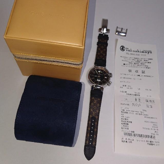 LOUIS VUITTON(ルイヴィトン)の超美品 最終値下  LOUIS VUITTON タンブール レベイユ GMT メンズの時計(腕時計(アナログ))の商品写真