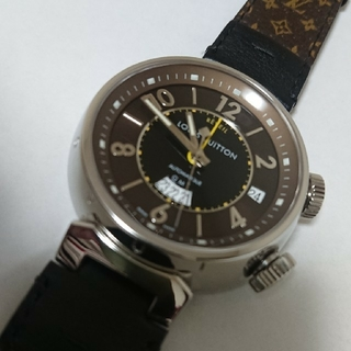 ルイヴィトン(LOUIS VUITTON)の超美品 最終値下  LOUIS VUITTON タンブール レベイユ GMT(腕時計(アナログ))