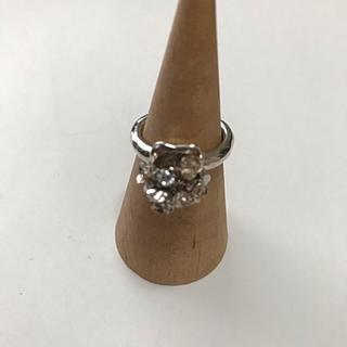 イーエム(e.m.)のe.m. イーエム ジルコニア×薔薇 揺れリング 指輪 シルバー(リング(指輪))