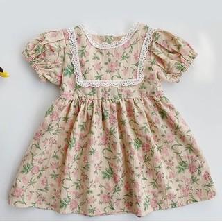 Caramel baby&child  - 新品★ インポート レース 花柄 ノスタルジック 赤毛のアン風 ワンピース