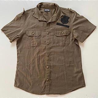 ピーピーエフエム(PPFM)のPPFM(ピーピーエフエム) ミニタリーシャツ 半袖 メンズ ジャケット(シャツ)