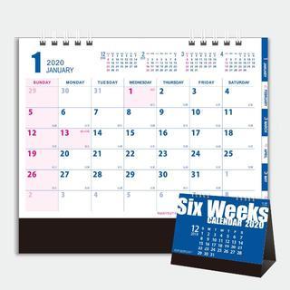 激レア!6週間表示Six Weeks CALENDAR 2020年卓上カレンダー(カレンダー/スケジュール)