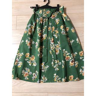 ブージュルード(Bou Jeloud)の美品 ブージュルード 花柄スカート(ひざ丈スカート)