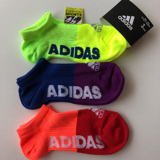 アディダス(adidas)の21〜23cm adidasキッズショートソックス(靴下/タイツ)