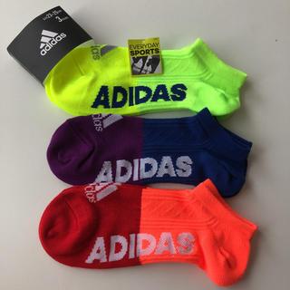 アディダス(adidas)の23〜25cm adidasキッズショートソックス(靴下/タイツ)