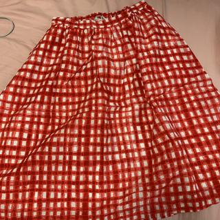 ビュルデサボン(bulle de savon)のビュルデサボン スカート 赤 レッド(ロングスカート)