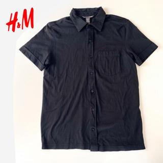 エイチアンドエム(H&M)のH&M エイチアンドエム 黒 メンズ シャツ 半袖 トップス(シャツ)