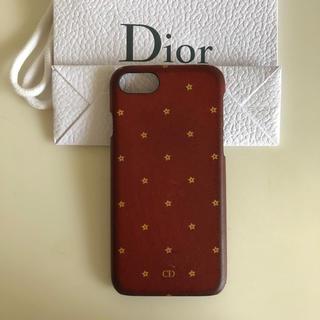 クリスチャンディオール(Christian Dior)の【ディオール Dior】iPhoneケース スター iPhone7/8 赤(iPhoneケース)