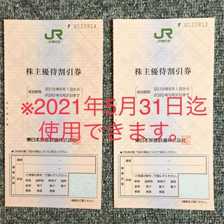 JR - ★JR東日本 株主優待割引券  2枚