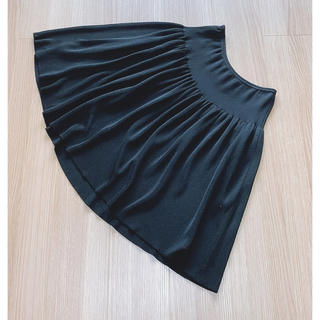 フォクシー(FOXEY)の【美品】フォクシー ブティック サマースカート  ウエストゴム ブラック(ひざ丈スカート)