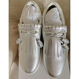 エンフォルド(ENFOLD)のミオノティス mio notis レザーシルバースリッポン 39(ローファー/革靴)