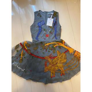 クリスチャンディオール(Christian Dior)の激レア‼︎✨新品 DIOR クリスチャンディオール 刺繍ドレス(ひざ丈ワンピース)