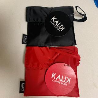 カルディ(KALDI)のカルディエコバッグ 赤黒(エコバッグ)