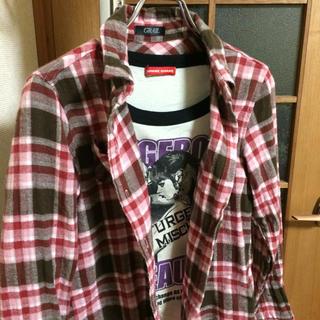ガールズ(GIRLS)のチェックシャツ&ロンT 2点セット(ポロシャツ)