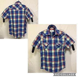 アルファ(alpha)のALPHASOPHY  チェック柄 半袖シャツ(シャツ)