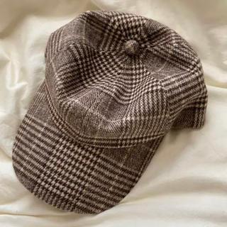 ジーユー(GU)のGU チェック 帽子(キャップ)