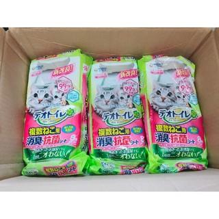 ユニチャーム(Unicharm)のデオトイレ消臭抗菌シート複数猫用8枚入×9袋(猫)