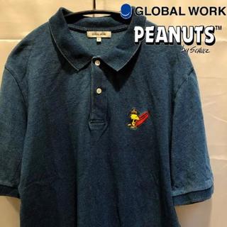 グローバルワーク(GLOBAL WORK)のGLOBAL WORK×PEANUTS ウッドストック ポロシャツ old加工(ポロシャツ)