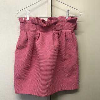 リリーブラウン(Lily Brown)のLily Brown ピンク チューリップ型コクーンスカート(ミニスカート)
