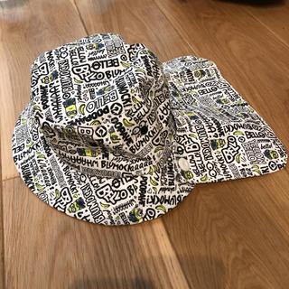 ユニバーサルスタジオジャパン(USJ)の帽子 ミニオンズ  日焼けよけ ツバ付き 52センチ(帽子)