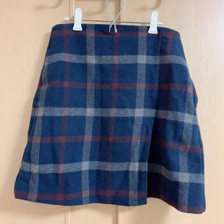 ユニクロ(UNIQLO)のチェックウールスカート(ミニスカート)
