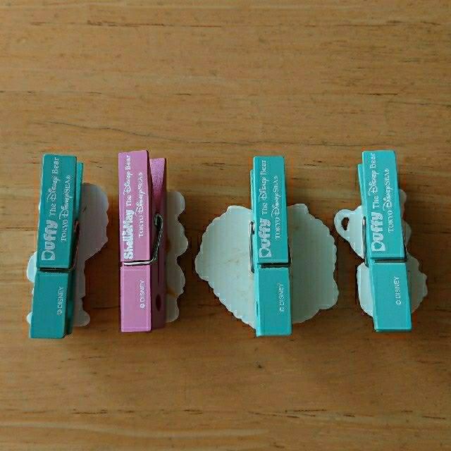 ダッフィー(ダッフィー)の(ダッフィー&シェリーメイ) クリップ4つセット インテリア/住まい/日用品の文房具(その他)の商品写真