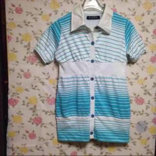 ネオンカラー ストライプ ZIENA(Tシャツ(半袖/袖なし))
