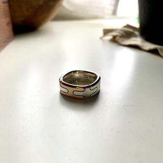 エルメス(Hermes)のHERMES スクエアリング 指輪 コンビ ヴィンテージ(リング(指輪))