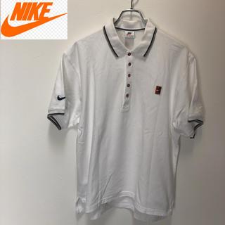 ナイキ(NIKE)の90s NIKE 銀タグ 白タグ ナイキ ヴィンテージ 刺繍ロゴ(ポロシャツ)