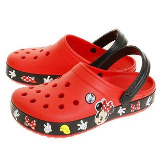 クロックス(crocs)のクロックス 25cm ミニーマウス サンダル レッド ミニー リボン 手袋(サンダル)