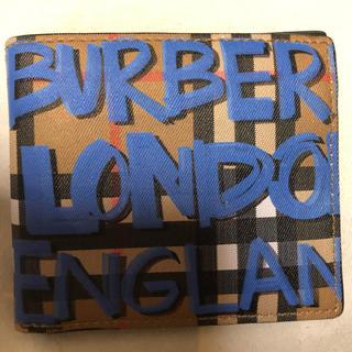 バーバリー(BURBERRY)のburberry グラフィティ ペイント(折り財布)