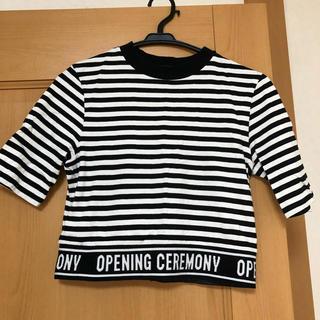 OPENING CEREMONY - ボーダーロゴTシャツ