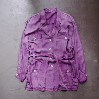アメリヴィンテージ(Ameri VINTAGE)のVintage Silk tailored jacket / Lavender(テーラードジャケット)