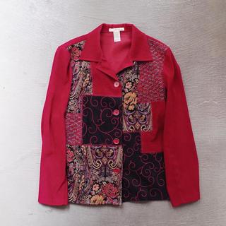 アメリヴィンテージ(Ameri VINTAGE)のVintage Patchwork jacket / Red(テーラードジャケット)