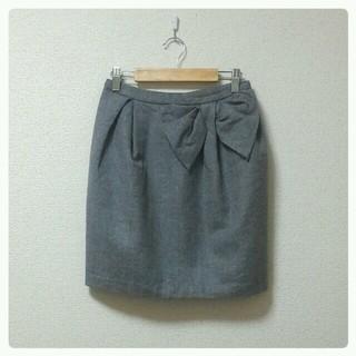 デンドロビウム(DENDROBIUM)のリボン付きタイトスカート(ミニスカート)