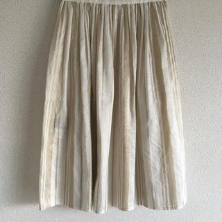 ロペ(ROPE)のプリーツラップスカート(ひざ丈スカート)
