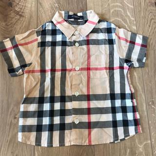 バーバリー(BURBERRY)の美品 バーバリー チェックシャツ 90(ブラウス)