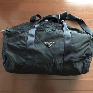 プラダ(PRADA)のPRADA プラダボストンバック 黒 俵型(ボストンバッグ)