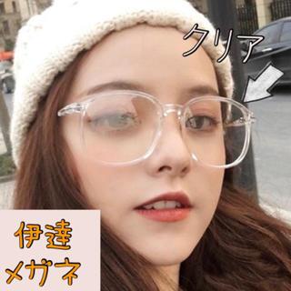 クリア 透明 サングラス メガネ 韓国 ブルーライト(サングラス/メガネ)