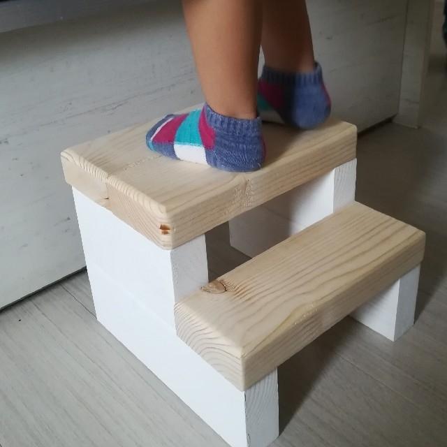 木製 ナチュラル 踏み台 インテリア/住まい/日用品の椅子/チェア(その他)の商品写真