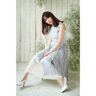 スナイデル(snidel)のSpring Ribbed Knit Dress herliptブルー新品完売色(ロングワンピース/マキシワンピース)
