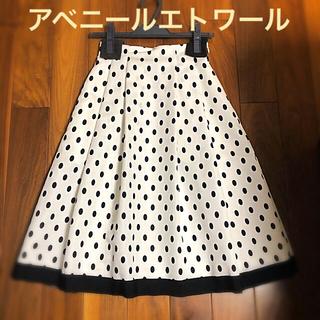 アベニールエトワール(Aveniretoile)のアベニールエトワール ドットスカート(ひざ丈スカート)