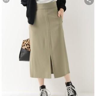 イエナスローブ(IENA SLOBE)の二重織カラーIラインスカート(ひざ丈スカート)