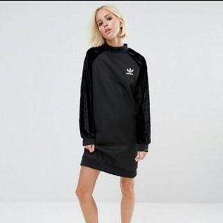 アディダス(adidas)の新品未使用品  adidas originals ドレス ワンピース ベロア(ミニワンピース)